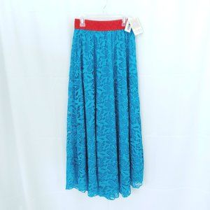 NWT LuLaRoe Lucy Maxi Long Skirt Lace Overlay